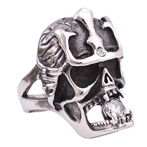 sönlichkeit Titan Stahl Fingerring Herren Schädel Ring dominierenden Titan Stahlring (Color : Us, Size : 12) ()