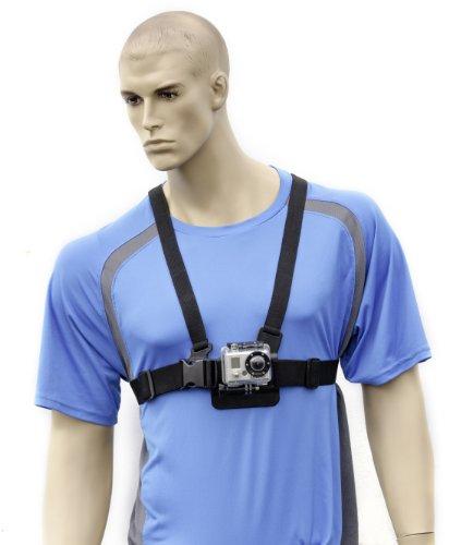 Brustgurt für GoPro Hero4,Hero3+, Hero3, Sony Action Cam oder POV HD und 1/4-20-kompatible Kameras (Hd-kamera Pov Sony)