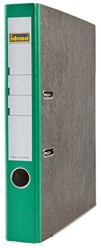 Idena 303069 Ordner A4, FSC-Mix, 5 cm, Wolkenmarmor, grün