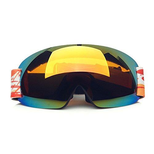 CHT Doppio Antinebbia Sci Grande Specchio Visione 170 Millimetri Colore Opzionale,Orange