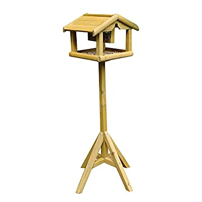 Kingfisher Premium Bird Table with Built in Feeder from King Fisher