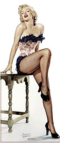 Net Netzstrumpfhose (Unbekannt Marilyn Monroe Net Stockings 175cm Lifesize PAPPFIGUREN LEBENSGROSSE)
