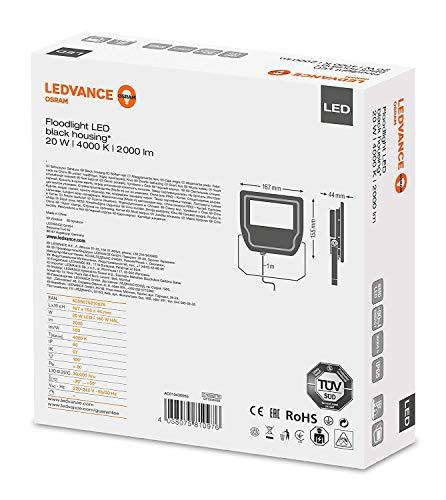 Ledvance 4058075810976 LUMINAIRES 20,00W-Blanc Froid 4000K Couleur Noir, Plastique, 20 W
