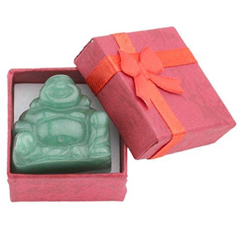 JOVIVI Dekoration Reiki Edelstein Kristall Maitreya Happy Buddha Figur Schutzengel Talisman Glücksbringer Feng Shui Energietherapie Deko (Aventurin)