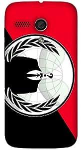 Prominent multicolor printed protective REBEL mobile back cover for Motorola Moto G (2014) 1st Gen D.No.N-L-11260-MG1