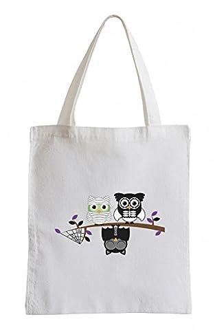 Raxxpurl fantômes d'Halloween Owls Fun sac de jute