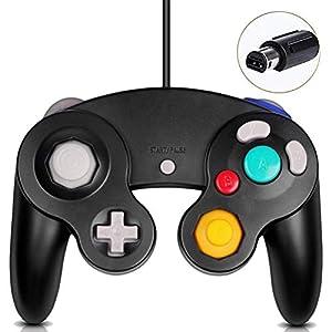 Gamecube Controller, klassischer kabelgebundener Controller für Wii Nintendo Gamecube, Schwarz