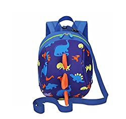 Dd Toddler Boys Girls Kids Dinosaur Backpack, Cartoon Safety Anti-lost Strap Rucksack With Reins