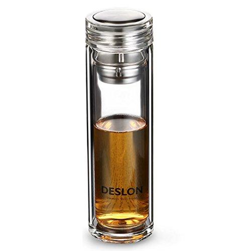 Deslon - Bouteille en verre double paroi Infuseur à...