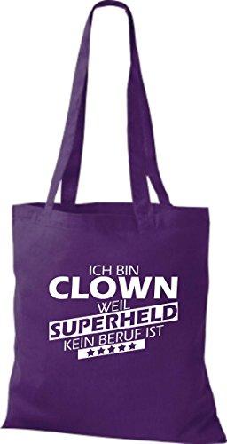 Tote Bag Shirtstown Sono Un Clown Perché Il Supereroe Non È Viola