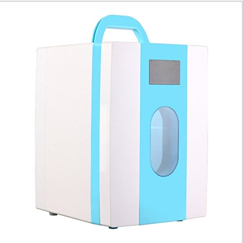 Réfrigérateur À boissons,10l gefrierfach heimat kompakt-kühlschrank gefroren kleiner kühlschrank brust milch lagerung einzeltür kältetechnik kleine gefrierschrank-Blau - Mit Kühlschrank Brust, Gefrierfach