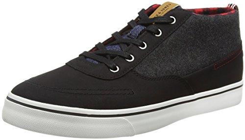 JACK & JONES Herren Jfwshark Wool Combo Mid Sneaker Low-Top Grau (Anthracite)