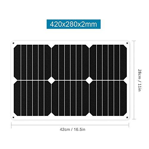 Giaride-Caricabatterie-Solare-di-12V-Batteria-Caricatore-di-Auto-Portatile-Fotovoltaico-Modulo-Sunpower-Pannello-Solare-Battery-Charger-per-Veicolo-Auto-Automobile-Motocicletta