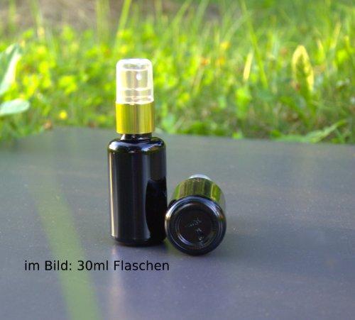 2 x Violett Glas Sprüh Flasche , 50ml Pumpsprühkopf Zerstäuber Gold zum Befüllen z.B. mit Aquadea Kristall-Energie-Wasser als Raumspray oder zu...