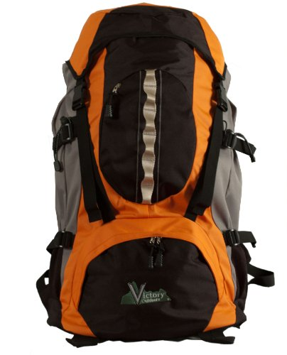 Victory Outdoor Cross Country 60-Liter Rucksack, Orange -