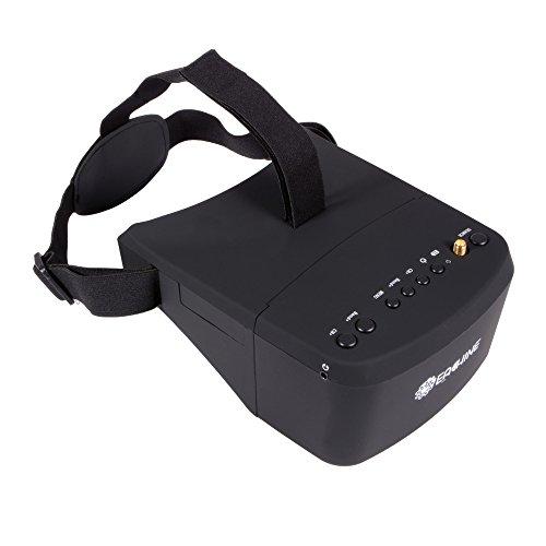 XCSOURCE® Gafas Eachine EV800 5 Pulgadas 800x480 Receptor FPV 5.8G 40C con Banda de Carreras de Autobúsqueda con Batería Incorporada AH221