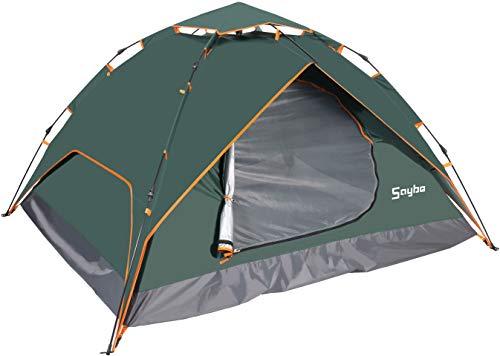 Wasserdichtes Pop Up Zelt 2-3 Personen - Leichtes Campingzelt Doppelschichtiges Wurfzelt mit Tragetasche