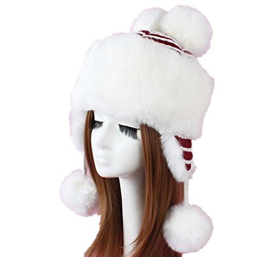 Women's Faux Fur Russian Ushanka Trooper Hat