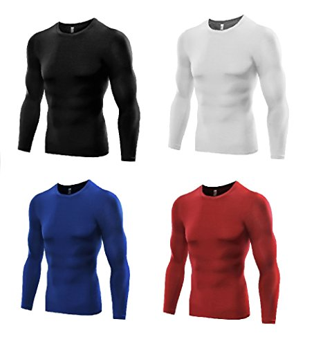 Men's Sports Base Layer Long Sleeved Compression Vest Comfortable Tight Fit Body Shaper That Compresses Core Muscle Areas AIDS Performance. Official Pure Blue Product