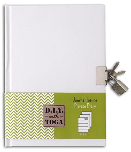 Toga diario para decorar, papel, blanco, 13x 18x 1,5cm