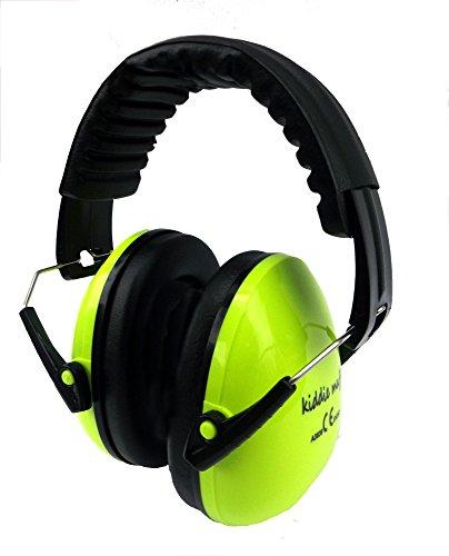 ☊ 2 PAAR Kiddie Muff® Kinder Ohrenschützer Gehörschutz für Kinder und Jugendliche Kapselgehörschutz 26dB Dämmwert in Neongelb ☊ - 3