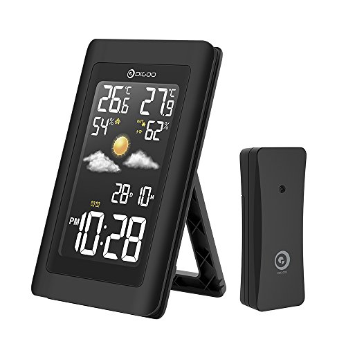 DIGOO DG-TH11300 Wireless HD Negative Bildschirm Wetterstation Hygrometer Thermometer Vorhersage Sensor