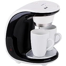 Cafetera eléctrica 1-2 tazas | Cafetera de goteo | Cafetera con 2 tazas de porcelana | Máquina de café | Mini cafetera | Diseño 450 W |