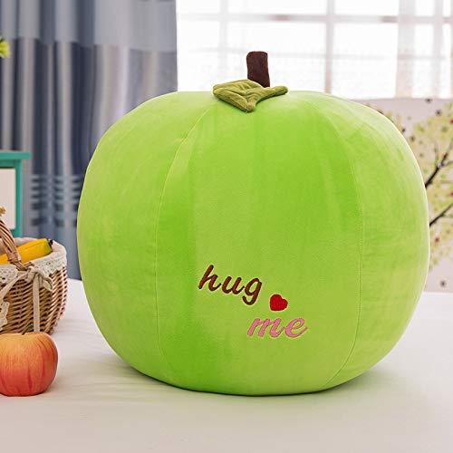 Mieoson Stilvoll und modern für das heutige Zuhause Kreatives Frucht-Apfel-Kissen-Kinderzimmer-dekoratives Sofa-Auto-Kissen-Apple-Puppe (Farbe : Green Apple, Größe : 30cm)