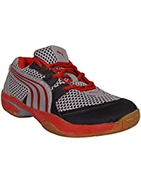 AQUA Black Red Badminton Shoes