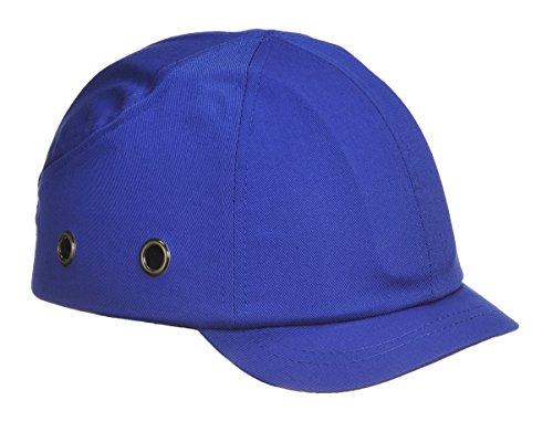 Workwear World WW339industriale sicurezza baseball Style Bump Cap cappello ventilato, short Peak, blu