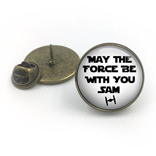 Bronce antiguo Force Be With You Pin de solapa personalizado de Star Wars  solapa personalizada  regalo de Star Wars  Guerras de las galaxias personalizadas  regalo para él  alfiler de corbata