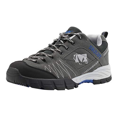 SSUPLYMY Herren Outdoor Trekking Wanderschuhe Camping Schuhe Sneaker Herren Rutschfeste Trekkingschuhe Herren Leichte Wasserdicht Outdoor Schuhe Männer für Sport Hiking Trekking -