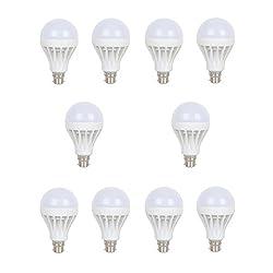 Earton 15 Watt LED Bulb Pack of 10 (Cool Day Light)