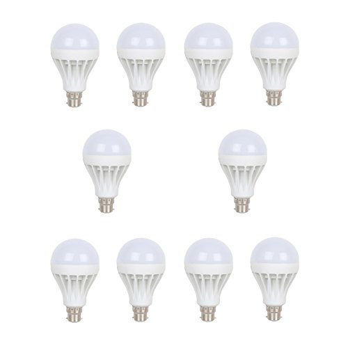 Earton 5 Watt LED Bulb Pack of 10 (Cool Day Light)