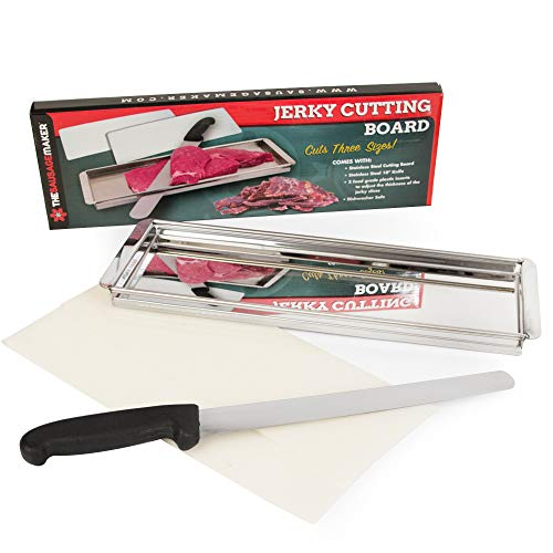 Slicer-board (TSM Products Jerky Cutting Board and 10-Inch Slicer Knife)