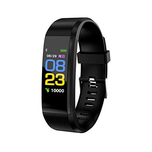 ZCC 2020 Neue Art und Weise Sport Gesunde Fitness-Armband Wasserdicht Smart-Band Heart Rate Monitor IP67 Smartch Bluetooth Passometer Smart-Band (Color : Black)