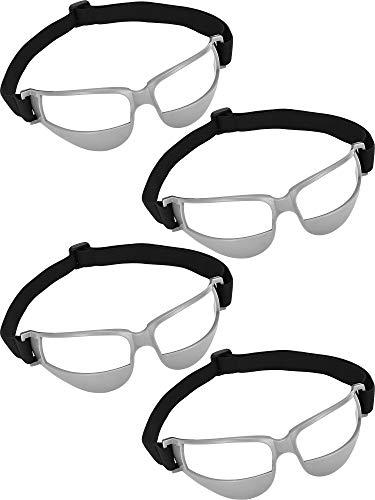 4 Stück Basketball Dribble Brille Dribbling Spezifikationen für Basketball Trainingshilfen (Grau) Patelai