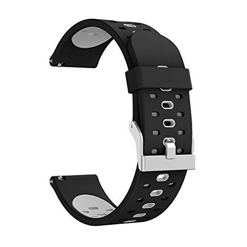 BASSK - Cinturino di Ricambio in Silicone Morbido a Due tonalità, per Xiaomi Huami Amazfit Bip Bit Pace Lite / S2 / Galaxy Watch...
