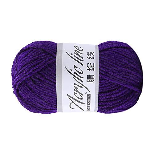 FeiliandaJJ 50g Wolle Zum Stricken & Häkeln,Acrylwolle Baumwolle Super weich Hand Strickgarn Strickwolle für Warme Hüte Pullover Schal Decke Strickprojekt - 14 Farben (B) -