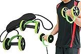 #5: Men Woman Fitness Abdominal Trainer Revoflex Xtreme ABS workout Kit Resistance Bands Exercise