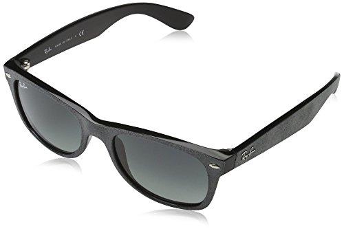 Ray Ban Herren Sonnenbrille New Wayfarer, (Gestell (Alcantara) schwarz,Gläser: grau verlauf 624171), Medium (Herstellergröße: 55)