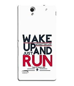 PrintVisa Designer Back Case Cover for Sony Xperia C4 Dual :: Sony Xperia C4 Dual E5333 E5343 E5363 (White Background Bold Font Text Background)