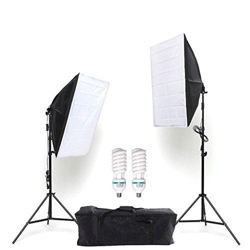 Mvpower-Kit-Softbox-Estudio-Fotografa-Iluminacin-2x-Softbox-50x70-cm-2x-Trpode-68-200-cm-2x-Lmparas-135W-5500K-Bolsa-de-Tela-Oxford-Fotografa-Completo-Profesional