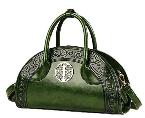 Hi-Smile Mini-Geldbörse Sommer Handtaschen Ethnic Style Handtasche Embossed Shoulder Messenger Bag Geldbörse (Farbe : Green, Größe : 33 * 11 * 20cm) -