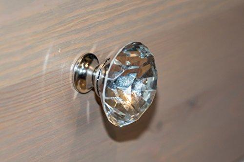 Großer Diamant geformte Glas Schrank Knauf-4cm x 4cm (Q B Labyrinth Ein)