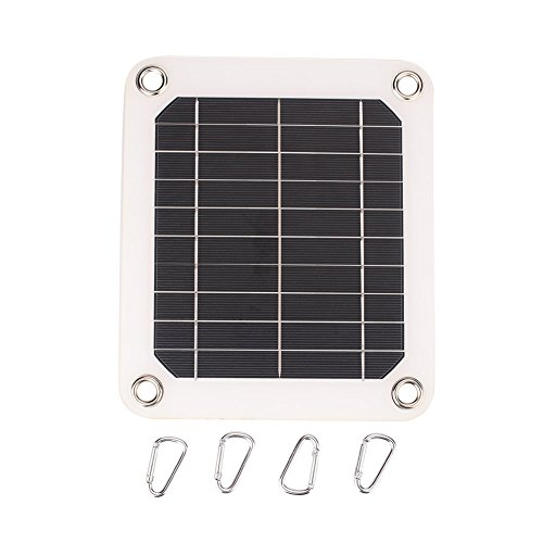 Cewaal 5W 5V monokristallines Solarmodul Externe mobile Handy-Ladegerät mit USB-Anschluss