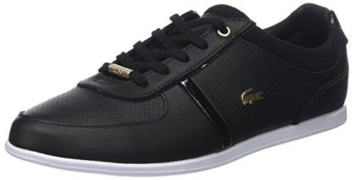 Lacoste Damen Rey Sport 118 1 Caw Sneaker, Schwarz (Blk/WHT), 37 EU