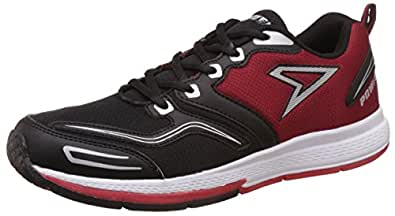 Power Men's Smith Black and Red Running Shoes - 7 UK/India (41 EU)(8395095)