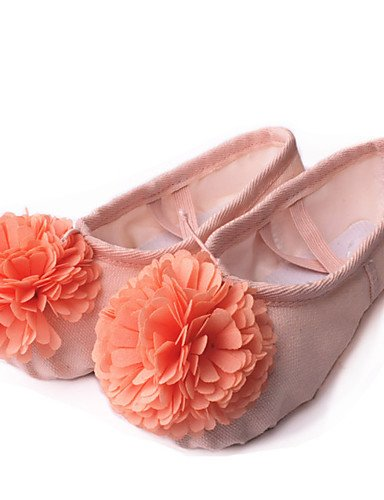 La mode moderne Non Sandales Chaussures de danse pour enfants personnalisable toile toile Ballerines Talon plat pratique/performances/rose/rouge Autres Nude