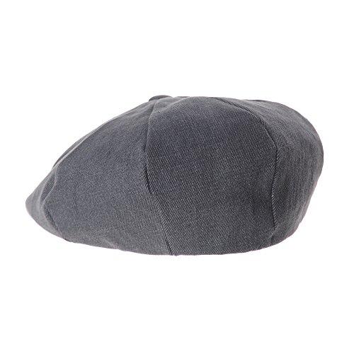 WITHMOONS Béret Casquette Chapeau Cotton Baker Boy Flat Cap Monochrome Beret Ivy Hat LD3602 Gris